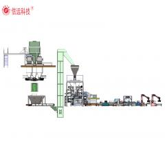 Powder fertilizer packing line